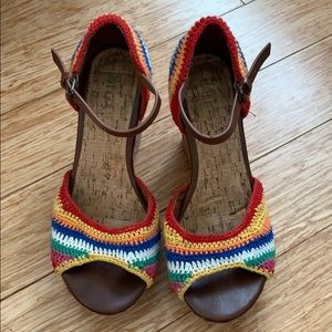 MIA Rainbow Crochet Wedges